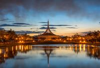 Sunset over Ratchamangkhala, Bangkok, Thailand
