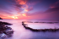 Sunset over Cam Ranh bay, Ninh Thuan, Vietnam