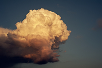 Close-up of cumulus cloud