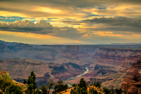 Cloudy sunset over Grand Canyon, Arizona, USA