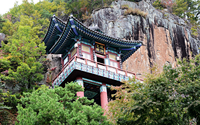 Buddhist temple in forest, Sasungam, Korea