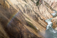 Rainbow in Grand Canyon of the Yellowstone, Wyoming, USA