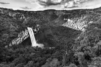 Caracol Falls waterfall on cliff, Rio Grande do Sul, Brazil