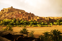 Ancient ksar city of Ait Benhaddou in desert, Merzouga, Draa-Tafilalet, Morocco