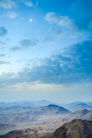 Mount Sinai and clouds in morning, Sinai, Egypt