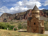 Surb Astvatsatsin Church of Noravank Monastery in Amaghu valley, Armenia