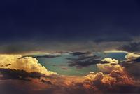 Cumulus clouds, Dubna, Russia