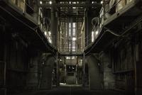 Interior of abandoned power plant, Belgium