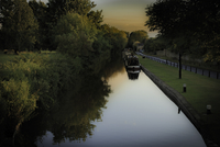 Boats in canal, Oxford, England
