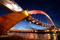 Bridge in evening, Songshan, Taipei, Taiwan