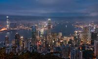 Hong Kong seen from Victoria Peak at night, Hong Kong