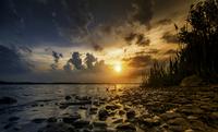 Onondaga lake at sunset, Syrcuse, New York, USA