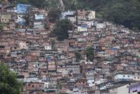 Buildings in favela, Rio de Janeiro, Brazil