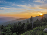 Sunset over Clingmans Dome, USA