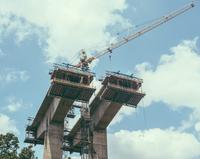 Bridge construction, Virginia, USA