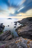 Rocky coastline landscape, Quiberon, Brittany, France