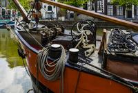 Close-up of boat, Schiedam, Netherlands
