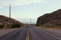Empty road to Las Vegas, near Lake Mead, Nevada, USA