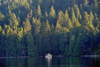 Passenger craft on water, Barnet Marine Park, Burnaby, British Columbia, Canada