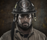 Portrait of African-American firefighter