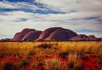 Kata Tjuta rocks under cloudy sky, Uluru-Kata Tjuta National Park, Uluru, Australia