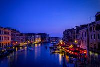 Canal at dusk, Venice, Veneto, Italy