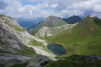 Lake in Dolomites mountains, Cortina d'Ampezzo, Belluno, Italy