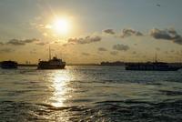 Last sunlight on the Istanbul ferries