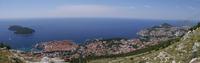 Panorama of Dubrovnik .