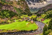Storm Coming to Flam Valley