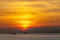 Sunset over Hong Kong anchorage
