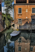 Reflections in canal, Venice