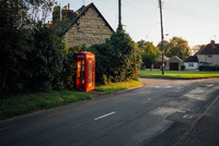 A phonebox in the English countryside