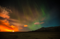 lights and the eruption