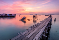 Sunrise in Tan Jetty, Penang