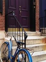Blue Bike Purple Door