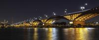 The night view of Seongsan Bridge