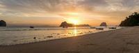 Sunrise over Adaman sea ( Koh Ngai )