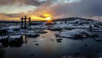 Winters Sunrise 11098065897| 写真素材・ストックフォト・画像・イラスト素材|アマナイメージズ