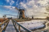 A Beautiful morning at Kinderdijk