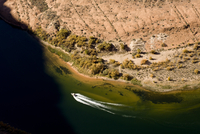 The view from the rim of Horshoe Bend of the Colorado River near