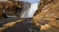 Rainbow on Skogafoss