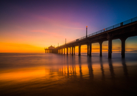 Manhattan Beach Pier after Sunset