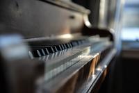 Close-up of piano keyboard