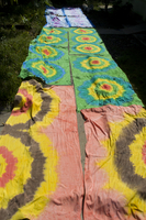 Blankets with floral pattern lying down