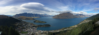 Town on seashore and fjords