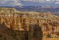 Sandstone cliff rock formations in desert