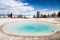Blue hot spring