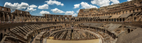 Ancient Roman Colosseum ruins, Rome, Italy