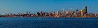 City waterfront skyline panorama